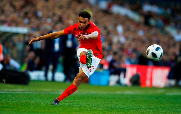 England's Trent Alexander-Arnold in action. Photo: REUTERS/Phil Noble