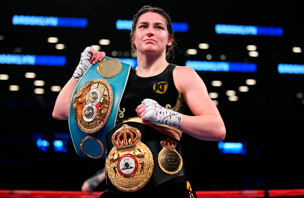 Katie with her world title