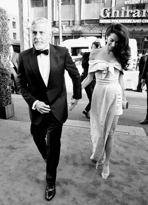 46th AFI Life Achievement Award Recipient George Clooney (L) and Amal Clooney attend the American Film Institute's 46th Life Achievement Award Gala Tribute to George Clooney at Dolby Theatre on June 7, 2018 in Hollywood, California. 389980 (Photo by Frazer Harrison/Getty Images for Turner)