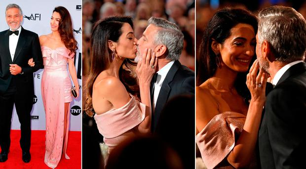 Amal and George Clooney at the American Film Institute's 46th Life Achievement Award Gala Tribute to George Clooney at Dolby Theatre
