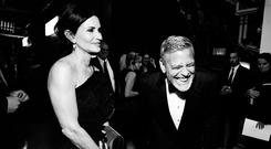 Courteney Cox (L) and 46th AFI Life Achievement Award Recipient George Clooney attend the American Film Institute's 46th Life Achievement Award Gala Tribute to George Clooney at Dolby Theatre on June 7, 2018 in Hollywood, California. 390073 (Photo by Emma McIntyre/Getty Images for Turner)