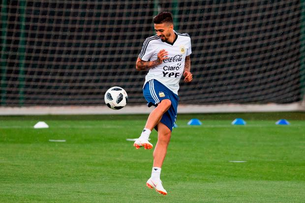 Manuel Lanzini of Argentina is out of the World Cup