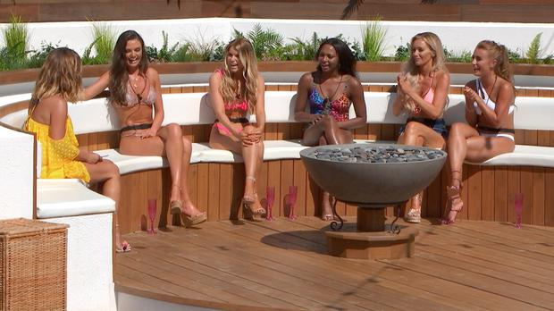 The Love Island ladies are set to be rocked a recoupling bombshell during Friday's episode (ITV)