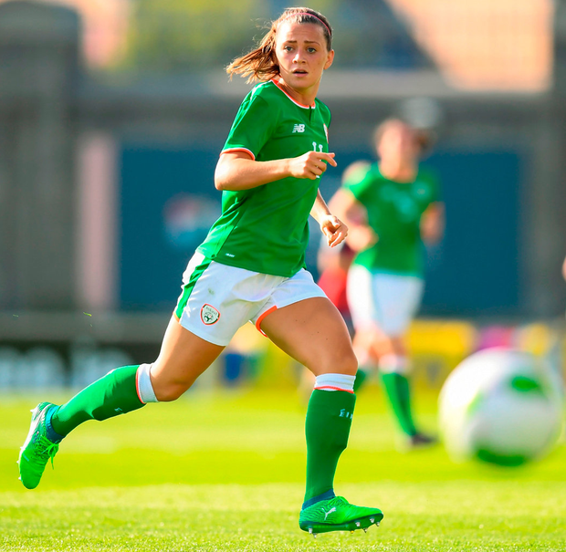 Ireland's Katie McCabe in action during the Women's World Cup Qualifier. Photo: Stephen McCarthy/Sportsfile