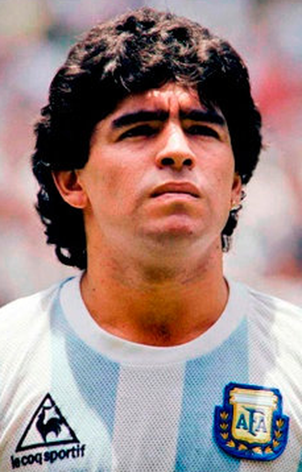 Diego Maradona made his claim on football eternity with his overwhelming of England with a mixture of the divine and the devilish. Photo: Getty Images