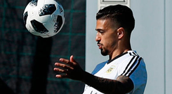 Argentina's Manuel Lanzini has been ruled out of the World Cup because of injury. Photo: AP