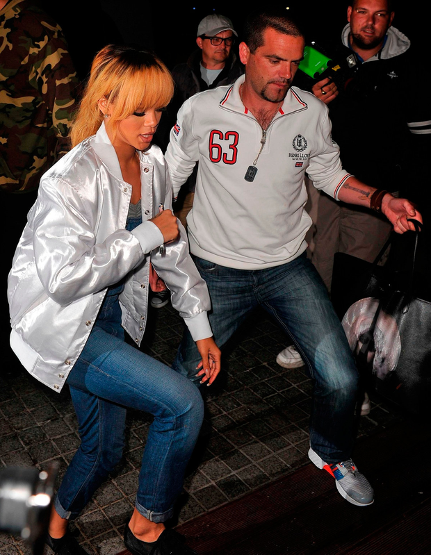 Rihanna with ex-security man Geoffrey Keating