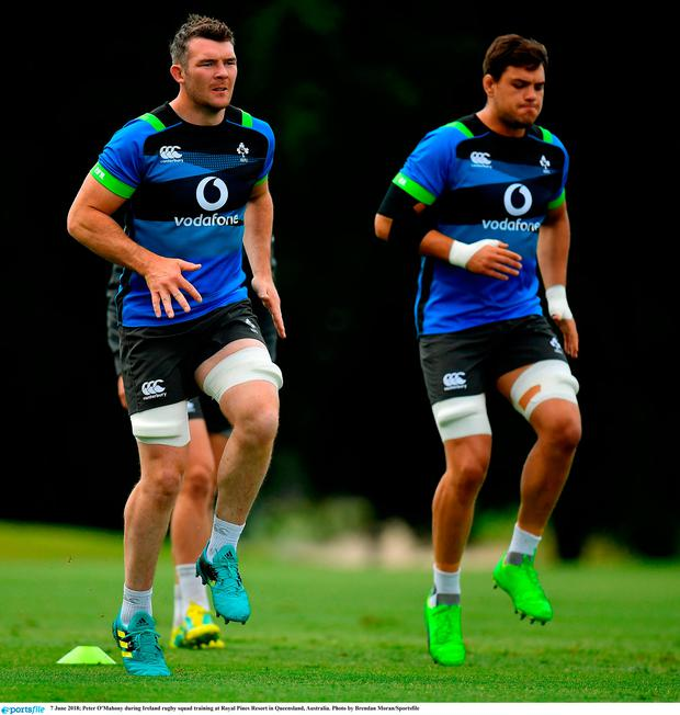Peter O'Mahony during Ireland rugby squad training at Royal Pines Resort in Queensland