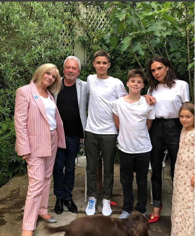 Victoria Beckham with her family. Picture: Instagram