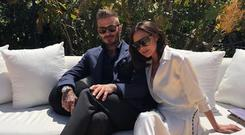 Victoria and David Beckham. Picture: Instagram