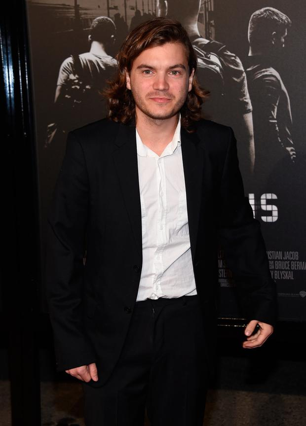 Actor Emile Hirsch arrives for the world premiere of