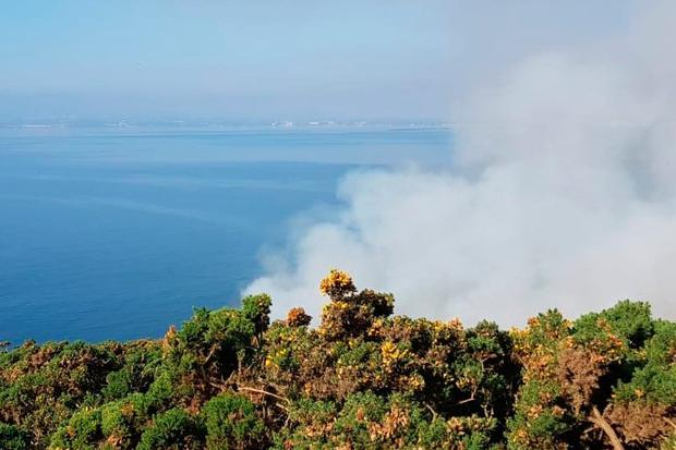Gorse fire in Howth, county Dublin (Photo: Dublin Fire Brigade)