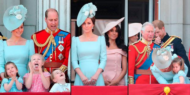 4058820e7ef5 Prince George and Princess Charlotte steal the show on balcony of ...