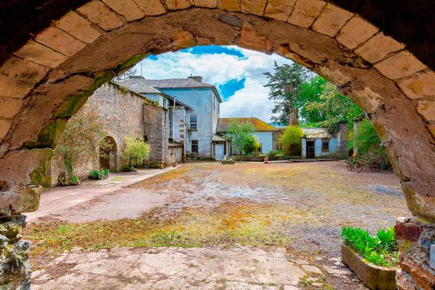 Kilmoyler House boasts a pretty courtyard of stables, coach houses and former staff quarters,