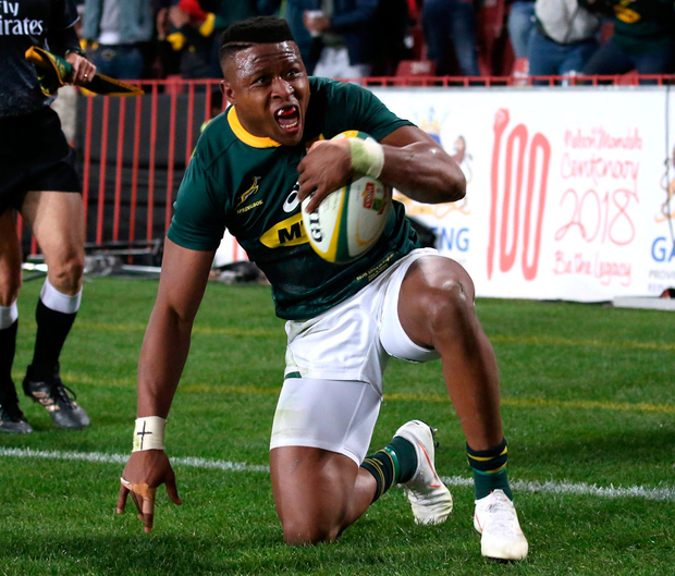 South Africa's Aphiwe Dyantyi. Photo: Siphiwe Sibeko/Reuters