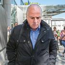 FALL FROM GRACE: Former Anglo Irish CEO David Drumm leaves the Criminal Courts of Justice after a guilty verdict of conspiracy to defraud and false accounting. Photo: Tony Gavin
