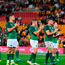 Ireland players applaud the Irish supporters