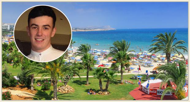 Tributes have been pouring in for Conor Morgan, inset, who tragically died while on holidays in Ayia Napa, Cyprus