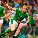 Seamus Flanagan of Limerick in action against Austin Gleeson of Waterford