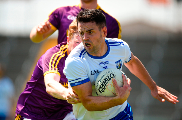 JJ Hutchinson of Waterford in action against Michael Furlong of Wexford. Photo by Matt Browne/Sportsfile