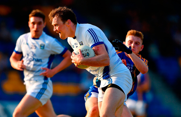 Gearoid McKiernan of Cavan in action against Dara Fitzgerald of Wicklow. Photo by Harry Murphy/Sportsfile