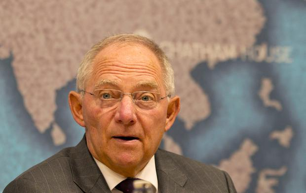 Pause for thought: President of the Bundestag Wolfgang Schauble