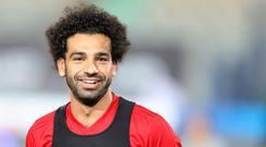 Salah remains uncertain if he will play in Egypt's opening Group A clash with Uruguay. Photo: Reuters
