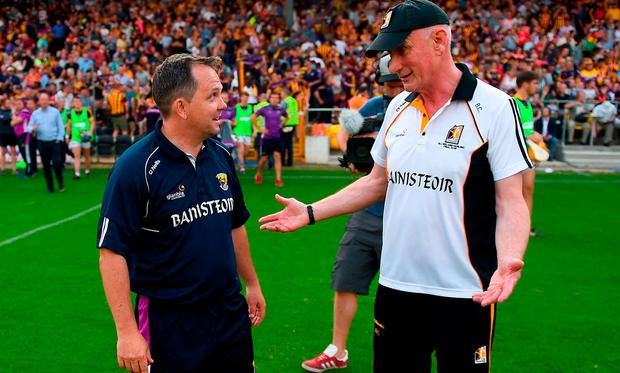 Wexford manager Davy Fitzgerald and Kikenny manager Brian Cody