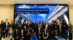Participants in a recent Bank of American 'Returning Talent' programme