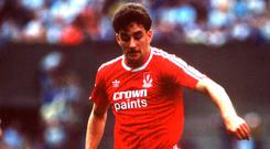 A league-winning Liverpool side, featuring Ireland's John Aldridge (pictured) and Ray Houghton, suffered a 1-0 shock defeat to Wimbledon in May's FA Cup final that year. Photo: Ray McManus/SPORTSFILE