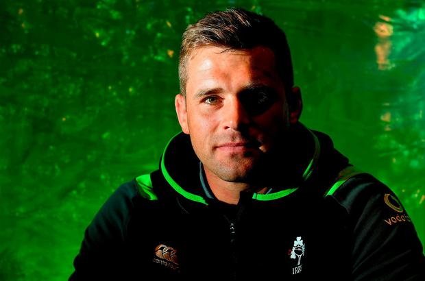 CJ Stander poses for a portrait after an Ireland Rugby Press Conference in Melbourne, Australia. Photo: Brendan Moran/Sportsfile