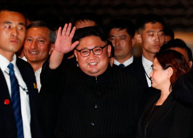 North Korea's leader Kim Jong-un visits The Marina Bay Sands hotel in Singapore yesterday. Photos: REUTERS/Edgar Su