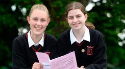 Andrea Farrelly and Roisin Hiney at Loreto School, Bray. Picture: Justin Farrelly