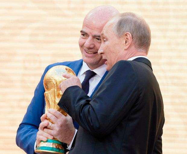 FIFA president Gianni Infantino and president of Russia Vladimir Putin are set for the most Fifa-y World Cup ever. Photo: Oleg Nikishin - FIFA/FIFA via Getty Images