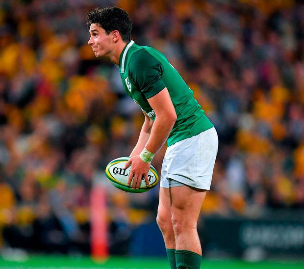 There was nothing too flashy from Carbery against Australia, but the experience will be to Ireland's long-term benefit. Photo: Sportsfile