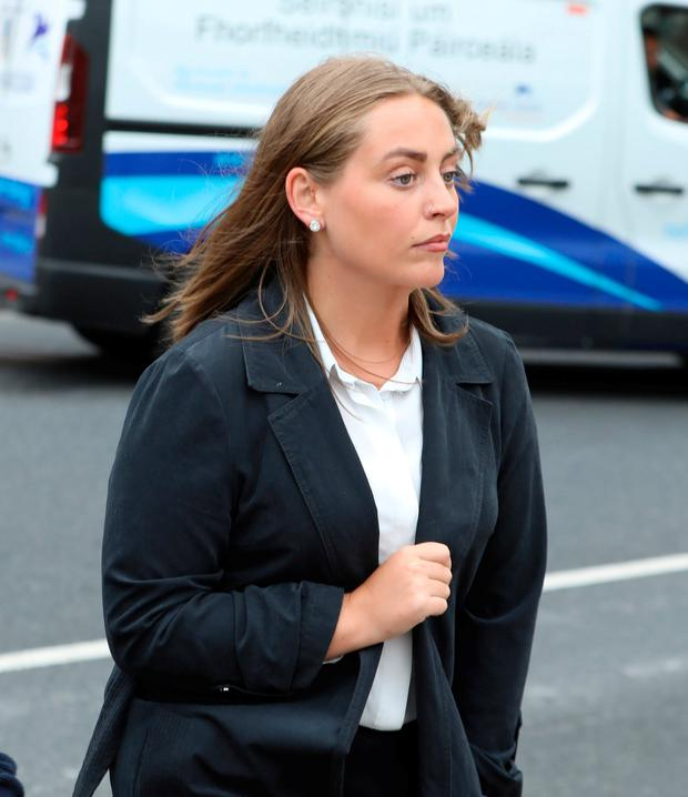 Sophie Beardmore, of Greystones, Co. Wicklow, pictured leaving the Four Courts yesterday after she settled her High Court action against Dicey's Garden Bar, Harcourt Street, Dublin.Pic: Collins Courts