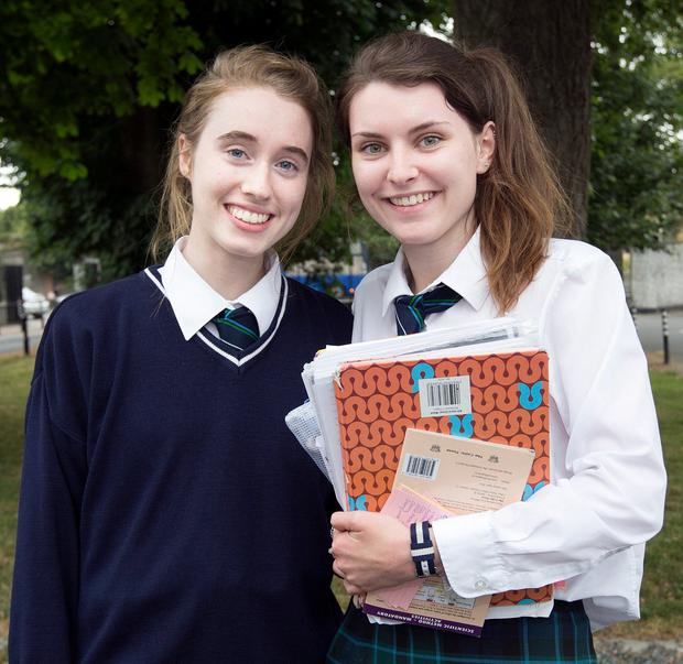 Niamh O'Connor (18), from Tenure, and Rachel Ledwith (18), from Termonfeckin, from the Greenhills college. Photos: Tony Gavin