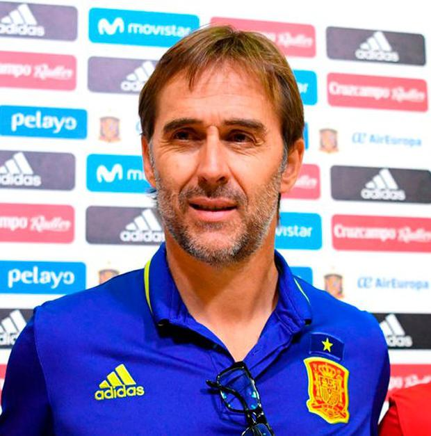 Spain coach Julen Lopetegui. Photo: Gabriel Bouys/AFP/Getty