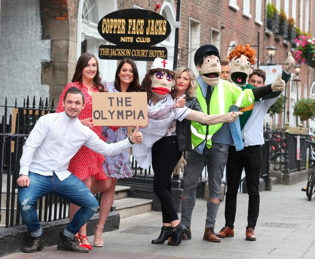 The cast of 'Copper Face Jacks: The Musical' launch the puppet-based theatre show. Photo: Leon Farrell/Photocall Ireland