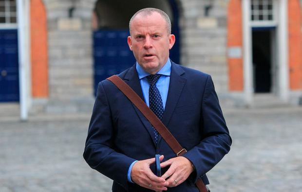 Former INM head of news Ian Mallon arrives at the Disclosures Tribunal at Dublin Castle. Photo: Gareth Chaney/Collins