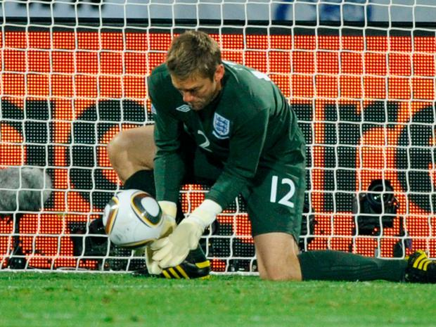 Rob Green's blunder against the USA. Photo: Kevork Djansezian/Getty Images