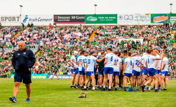 After bringing Waterford hurlers to within sight of the Promised Land last year, Derek McGrath looks set to walk away from the hot seat. Photo: Ramsey Cardy/Sportsfile