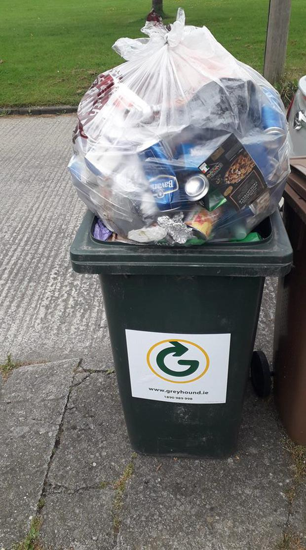 The Clondalkin based councillor awoke to find a full bag of rubbish on top of his green bin last week