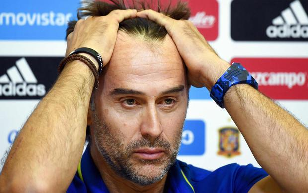 Julen Lopetegui has been sacked as Spain manager CREDIT: AFP