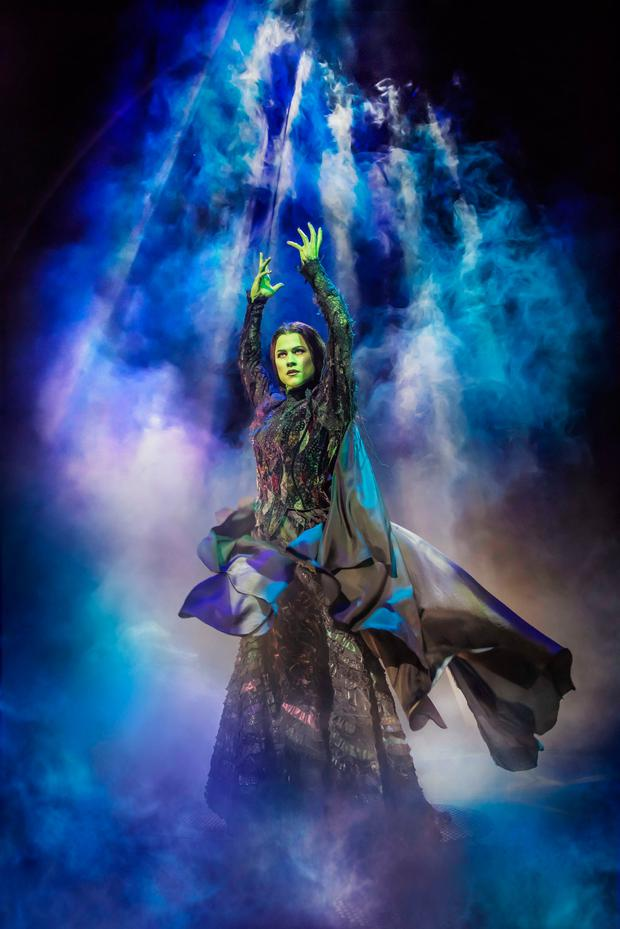 Amy Ross as Elphaba. Photo: Matt Crockett