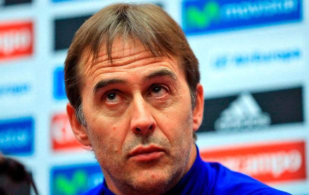 Spain manager Julen Lopetegui