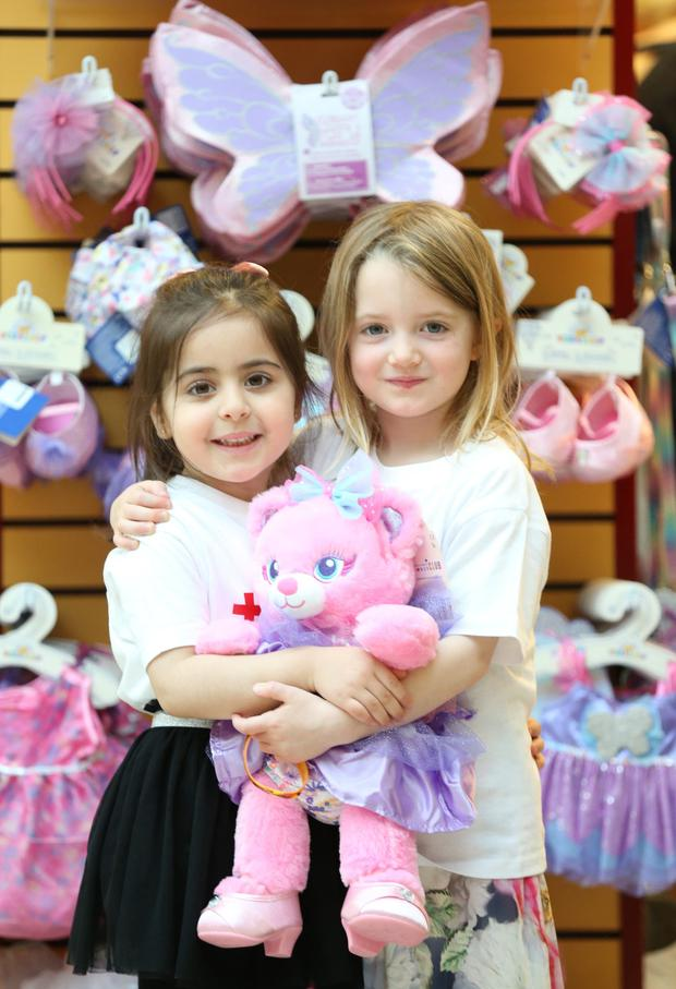 Pictured at the launch of the partnership were Serene (4) and Callie (6). Credit: Sasko Lazarov/Photocall Ireland.