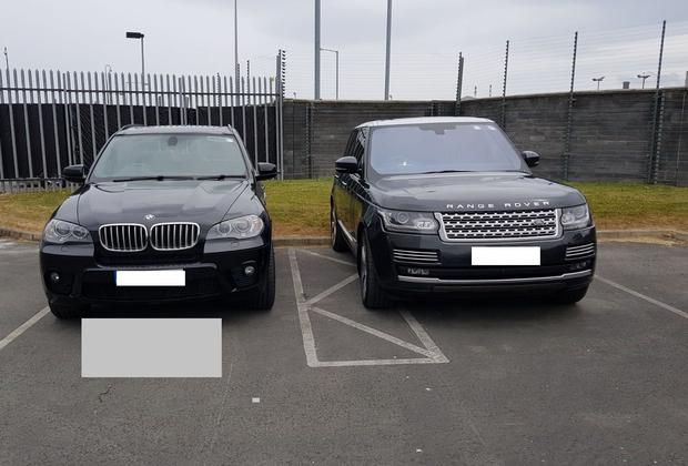 Some of the vehicles seized by the Criminal Assets Bureau