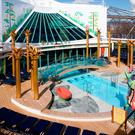 A view of the Solarium on deck 11 of Independence of the Seas - Royal Caribbean International