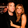 Robbie Williams with wife Ayda Field. Photo: PA